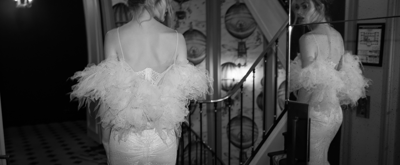 designer wedding dress inbal dror a paris france P 1