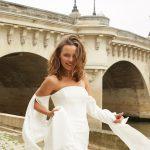 robe de mariee createur mira mandic chez metal flaque a paris