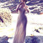 justin alexander signature designer wedding dress at metal flaque in paris france