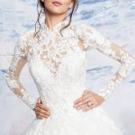 justin alexander signature designer wedding dress at metal flaque in paris france