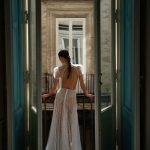 inbal dror designer wedding dress at metal flaque in paris france