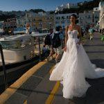 inbal dror designer wedding dress at metal flaque in paris france